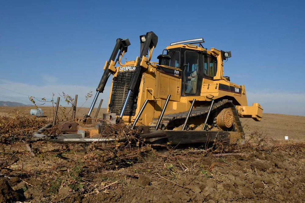 A&L Services custom vineyard removal equipment