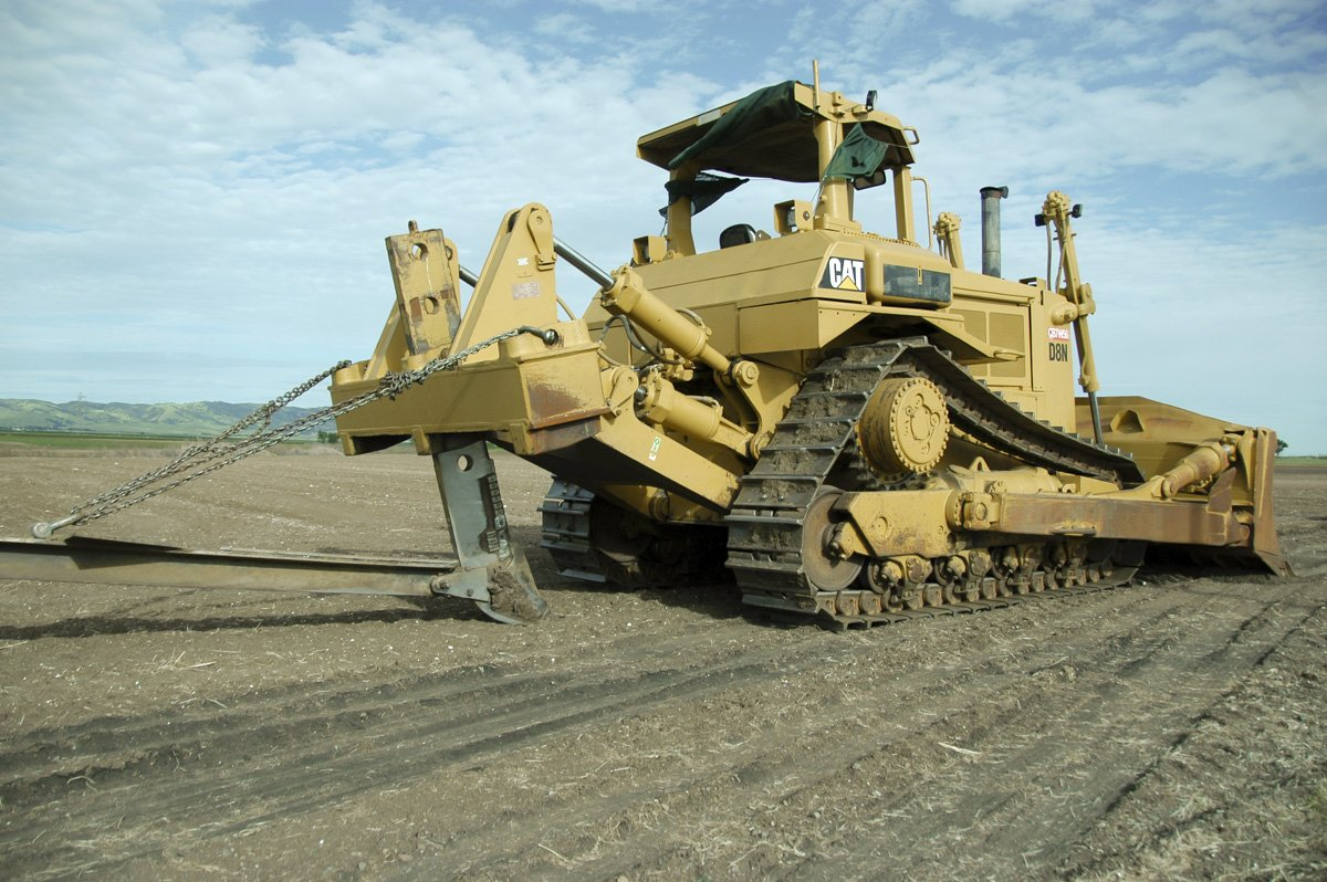 A&L Construction Caterpillar D8 with deep ripping shank